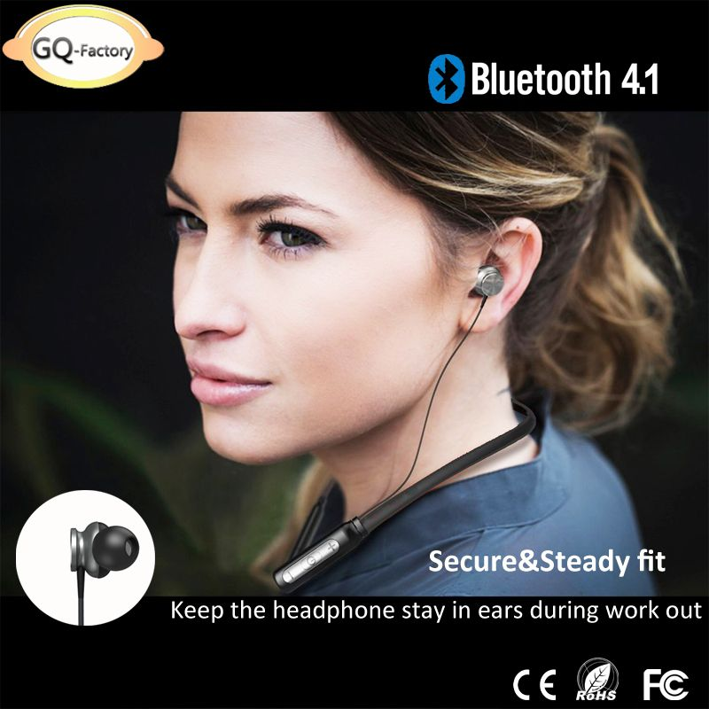 Bluetooth neck strap earphone. With ergonomic earbuds for