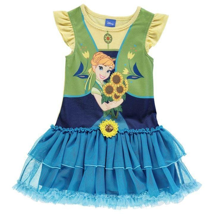 Girls Disney Frozen Fever Anna Tutu Dress | Disney Frozen Clothes ...
