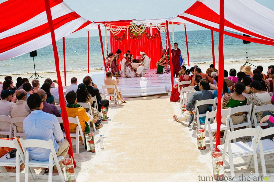 Indian Beach Wedding Ceremony