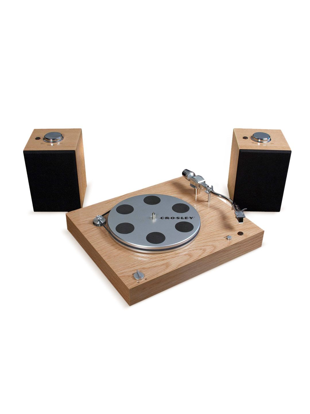 Audiophile Turntable with Wireless Speakers - Gilt Home - for the man cave