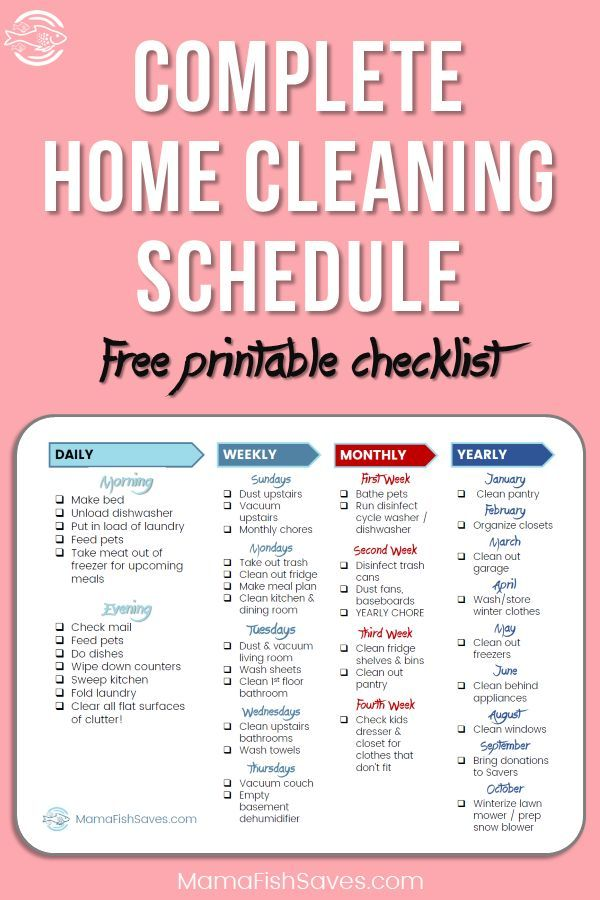 How to Simplify Your Home Cleaning Schedule | Pinterest | Cleaning ...