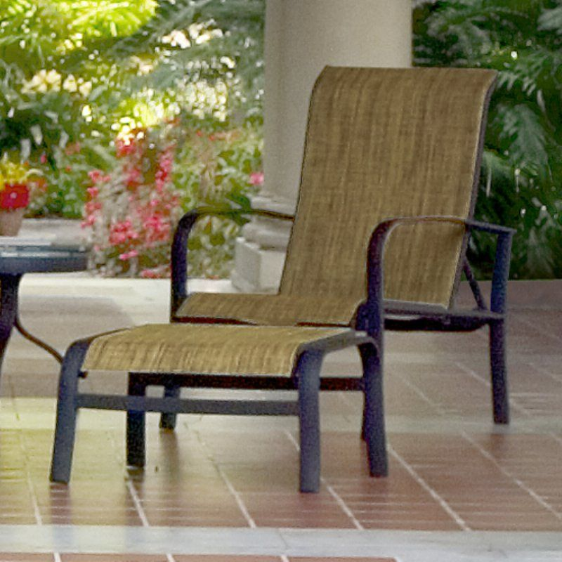 Outdoor Woodard Fremont Sling Patio Ottoman - 2P0486