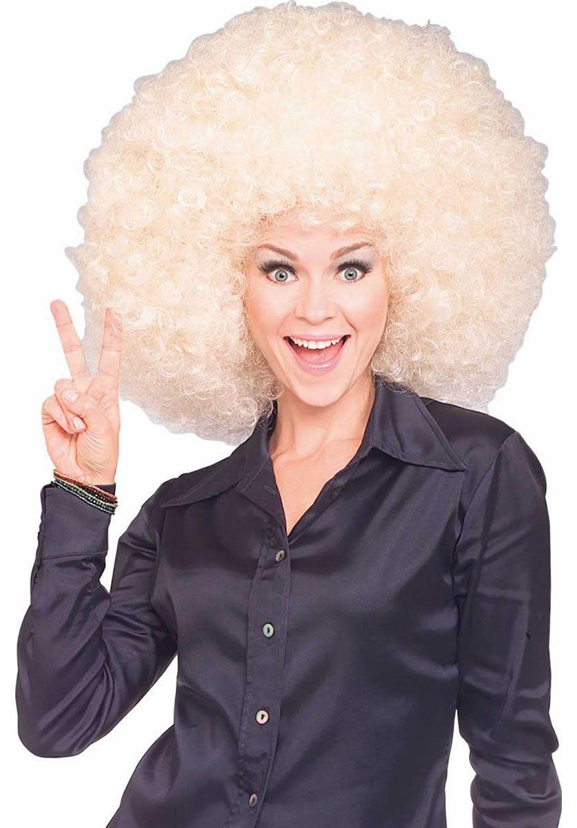 Rubie/'s Super Size Blonde Afro Wig Costume Accessory
