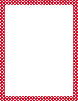 Red And White Polka Dot Border Paintable Wallpaper Daltile Page Borders