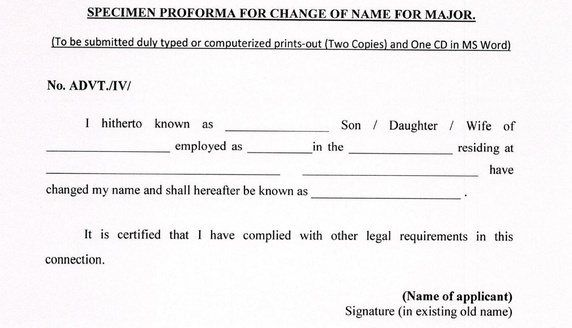1 How Do I Legally Change My Name In India How Long It Will Take