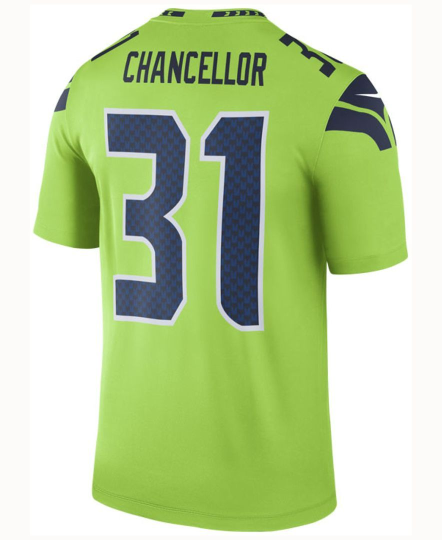 Nike Men\'s Kam Chancellor Seattle Seahawks Legend Color Rush Jersey ...