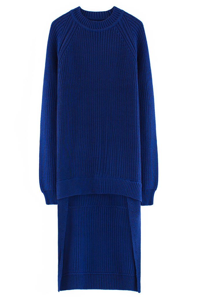 CHRISTOPHER SHANNON LONG LAYERED CREWNECK KNIT SWEATER