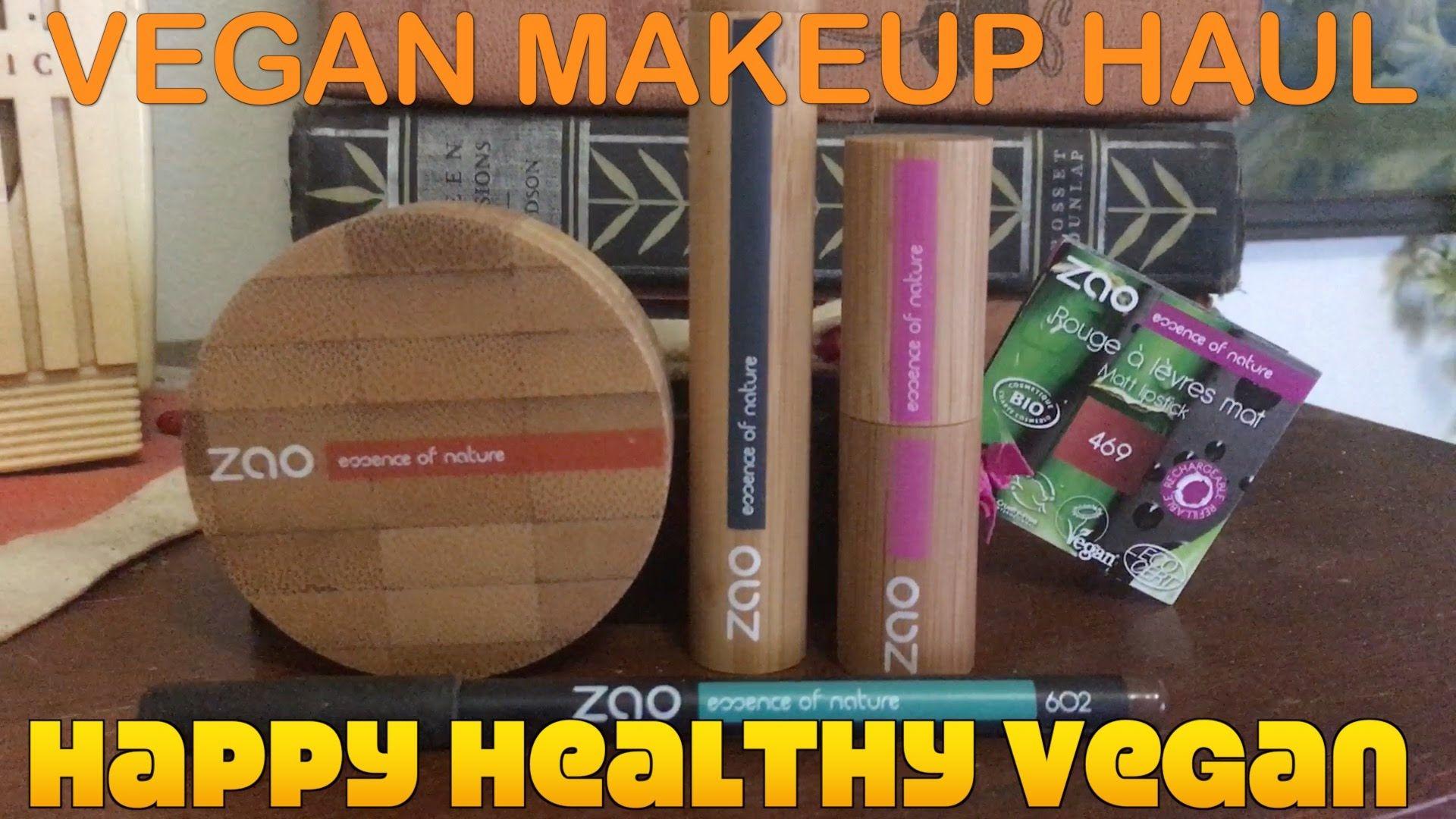 Vegan Makeup Haul Zao Organics Review + Demo Vegan