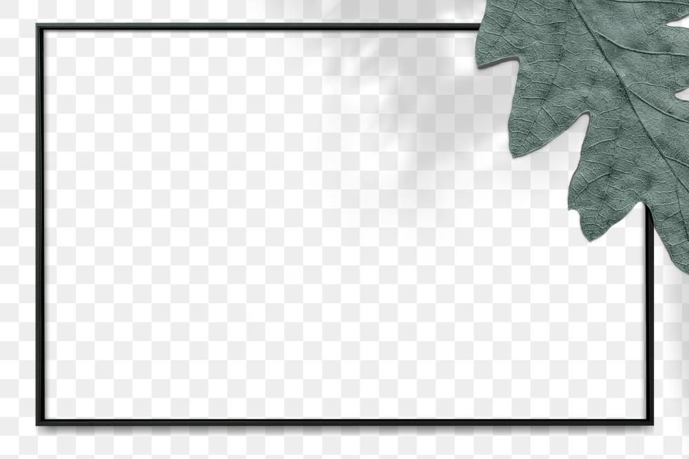 Png Oak Leaf Black Frame Free Image By Rawpixel Com Nunny Christmas Card Images Frame Black Frame