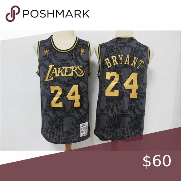 Los Angeles Lakers Kobe Bryant Black Gold Jersey NBA jersey. Brand ...