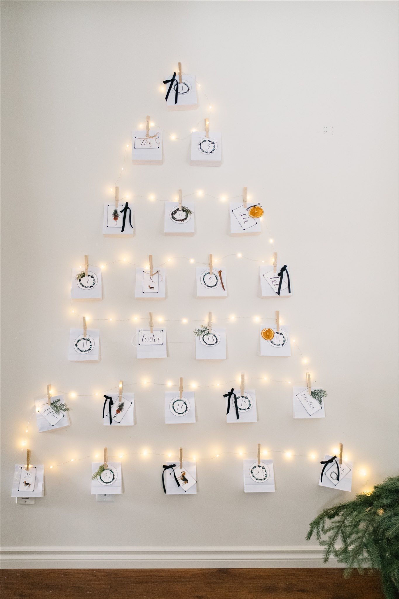 Diy Christmas Advent Calendar With Printable Tags The Ginger Home Christmas Advent Calendar Diy Christmas Advent Calendar Homemade Advent Calendars