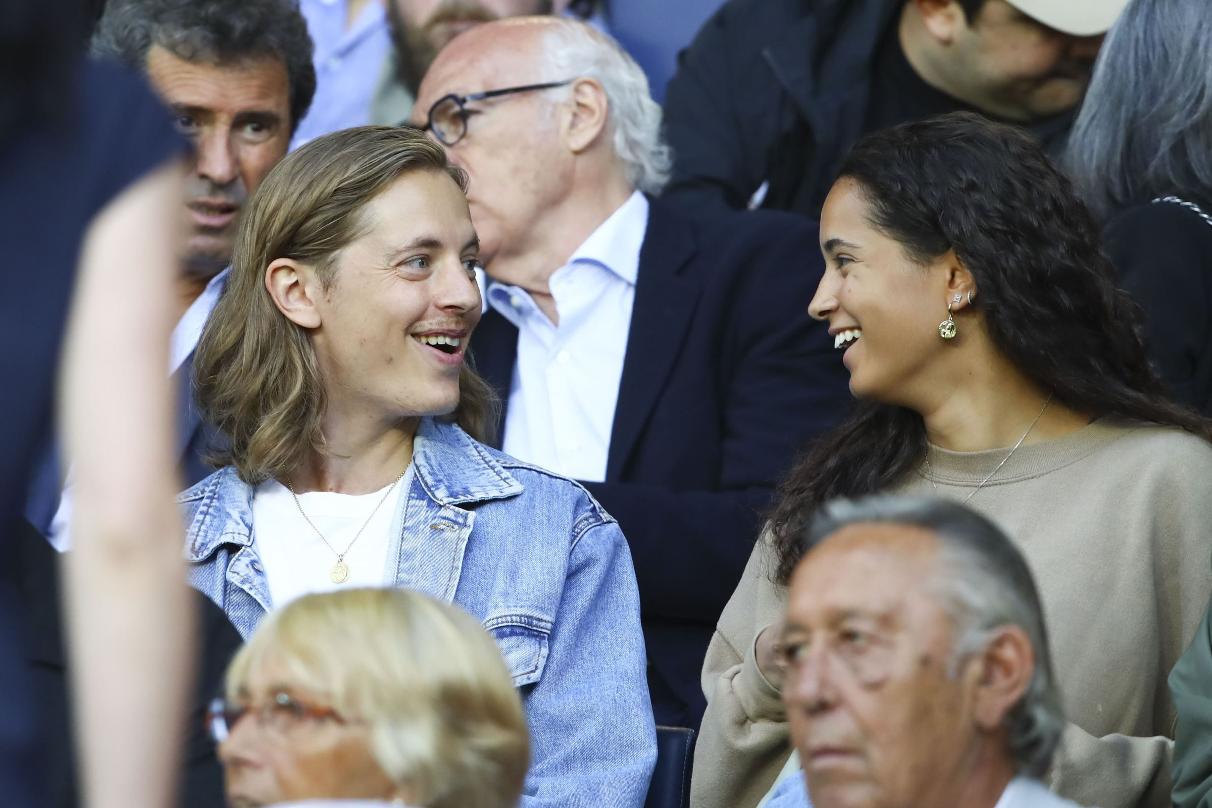 PHOTOS. Pierre Sarkozy soutient les stars du PSG avec un