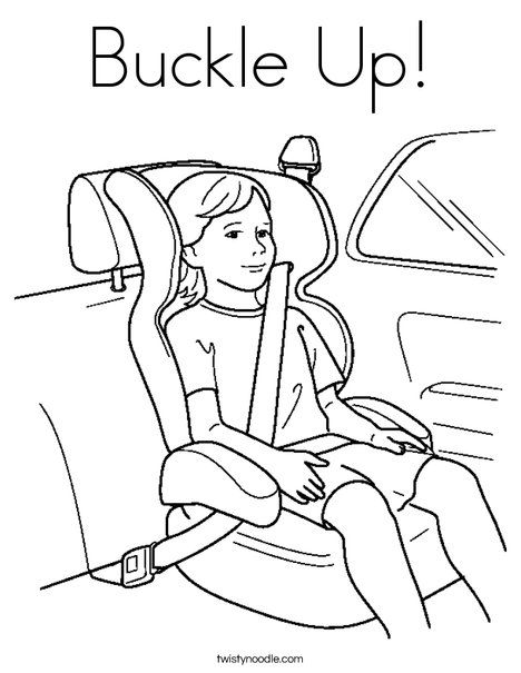Buckle Up Coloring Page Twisty Noodle Road Safety Safety