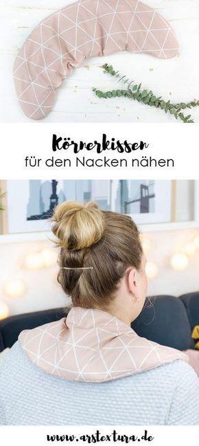 Photo of Körnerkissen für den Nacken nähen | ars textura – DIY-Blog