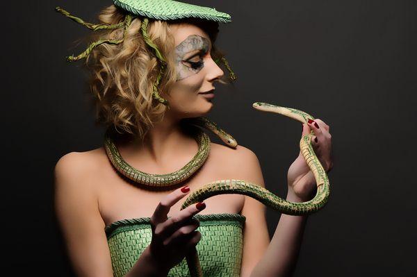 "Fantasy Make-up.""Medusa Gargona"" by kira tunin, via Behance"