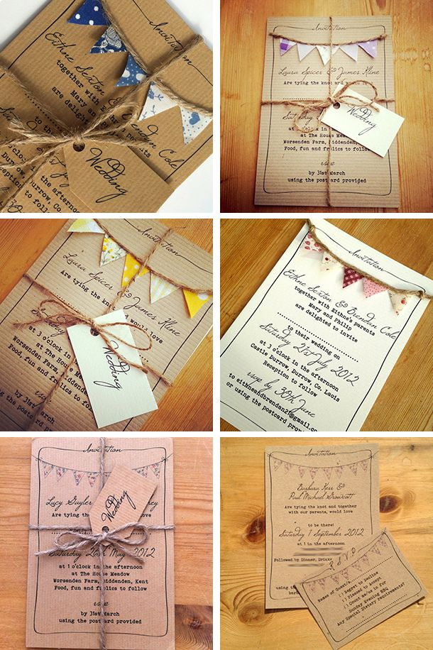 'Must be Fete' by To Have To Hold is a beautiful,  shabby chic wedding invitation which embraces the country fete theme perfectly.