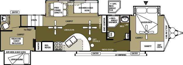 408loft Wildwood Grand Lodge Travel Trailer Floor Plans Travel Trailer Remodel Floor Plans