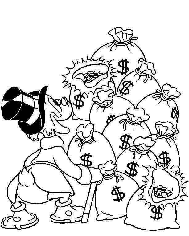 Uncle Scrooge Scrooge Mcduck Graffiti Designs Coloring Pages