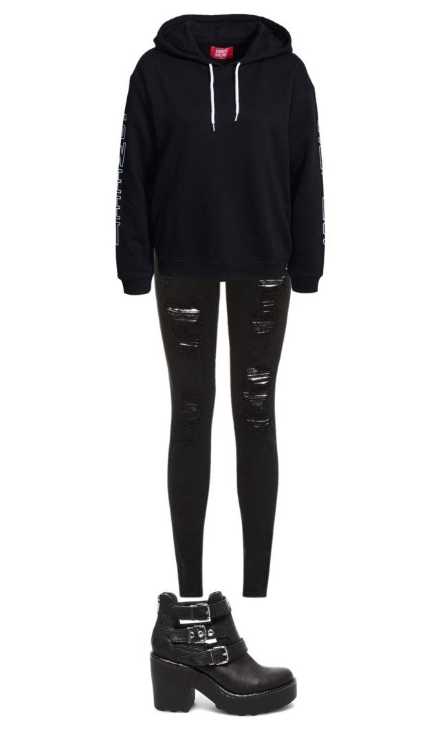 """Untitled #137"" by sleepingwithrazors ❤ liked on Polyvore featuring Parisian and Steve Madden"