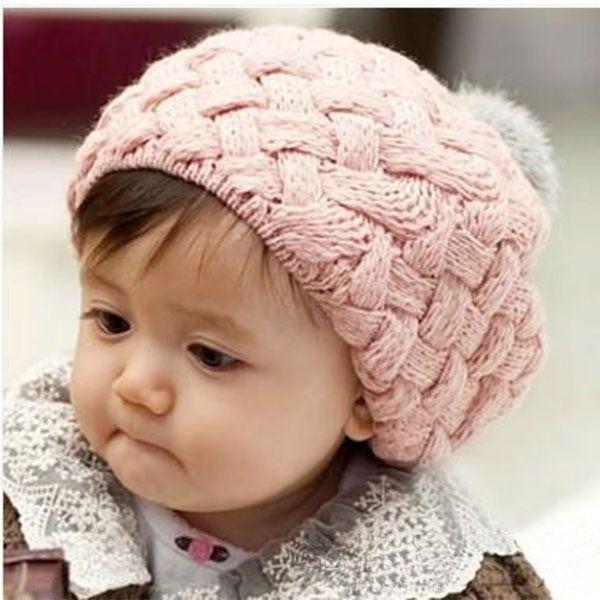 Kinder Mädchen Baby-handgemachte Häkelarbeit-strick Beret Hat Nette Warm Beanie Cap