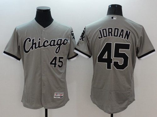 95492634e96 White Sox  45 Michael Jordan Grey Flexbase Authentic Collection Stitched  MLB Jersey