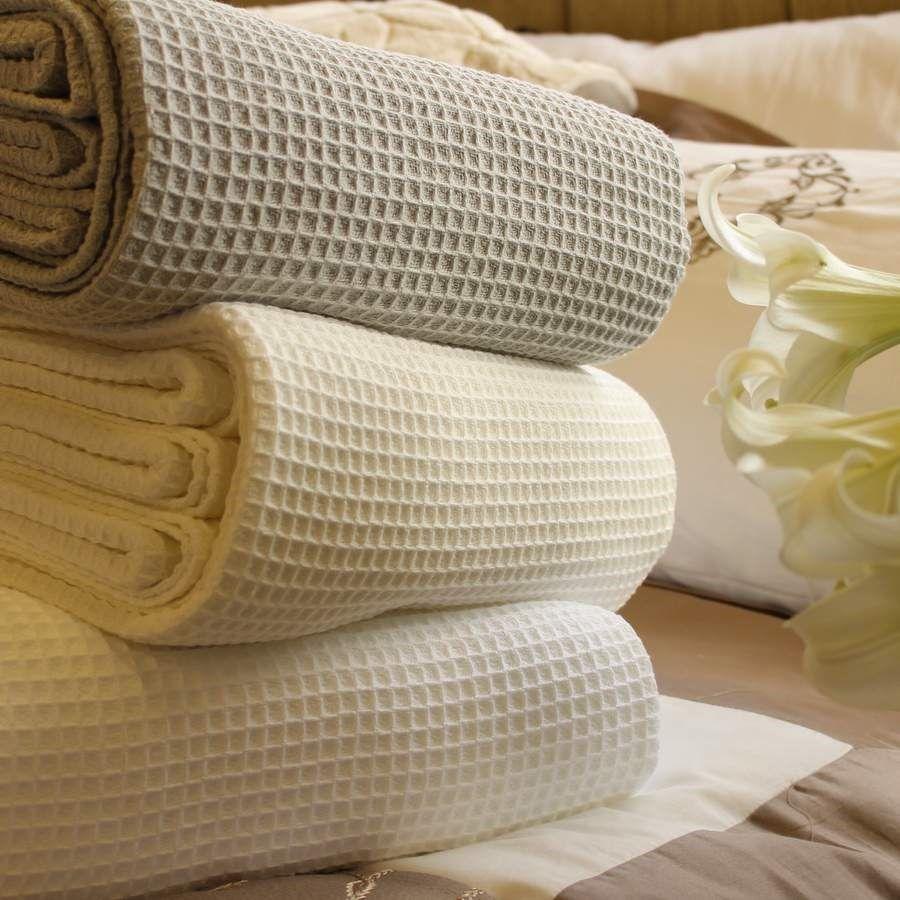Contemporary Waffle Pure Cotton Blanket/Bedspread Cotton