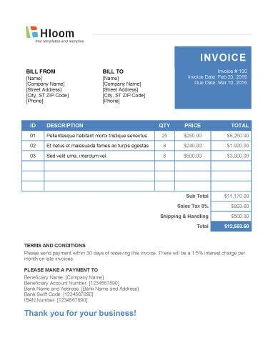 Notebook Invoice Template Word kin folk construction Pinterest - how to make invoices in word