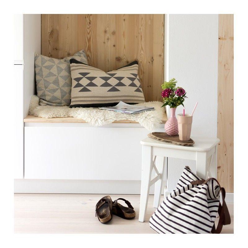 kissenbezug creme  grau skandinavisches design weich und
