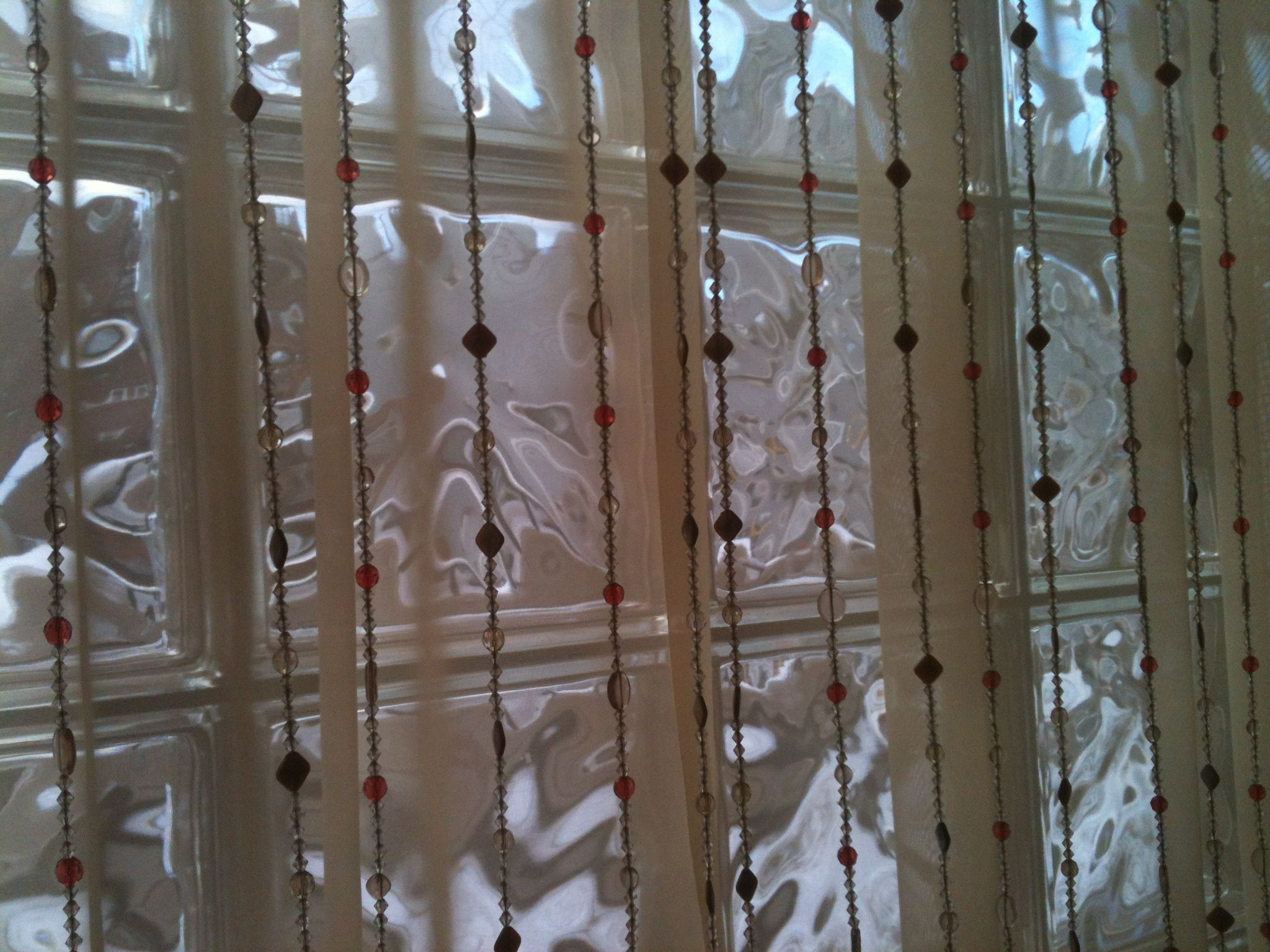 Beads And Sheer Curtains
