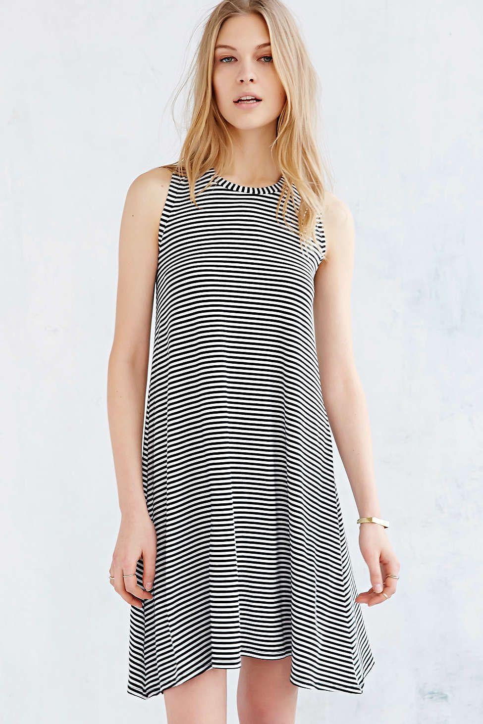 BDG Striped Swing Midi Dress