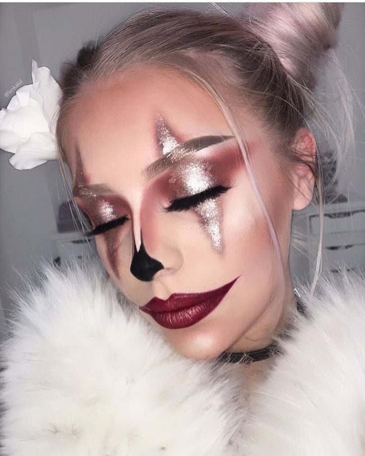 Best Ideas For Makeup Tutorials : GLAM clown makeup by yiru shao ❤ What Halloween makeup look should we feature … – The World