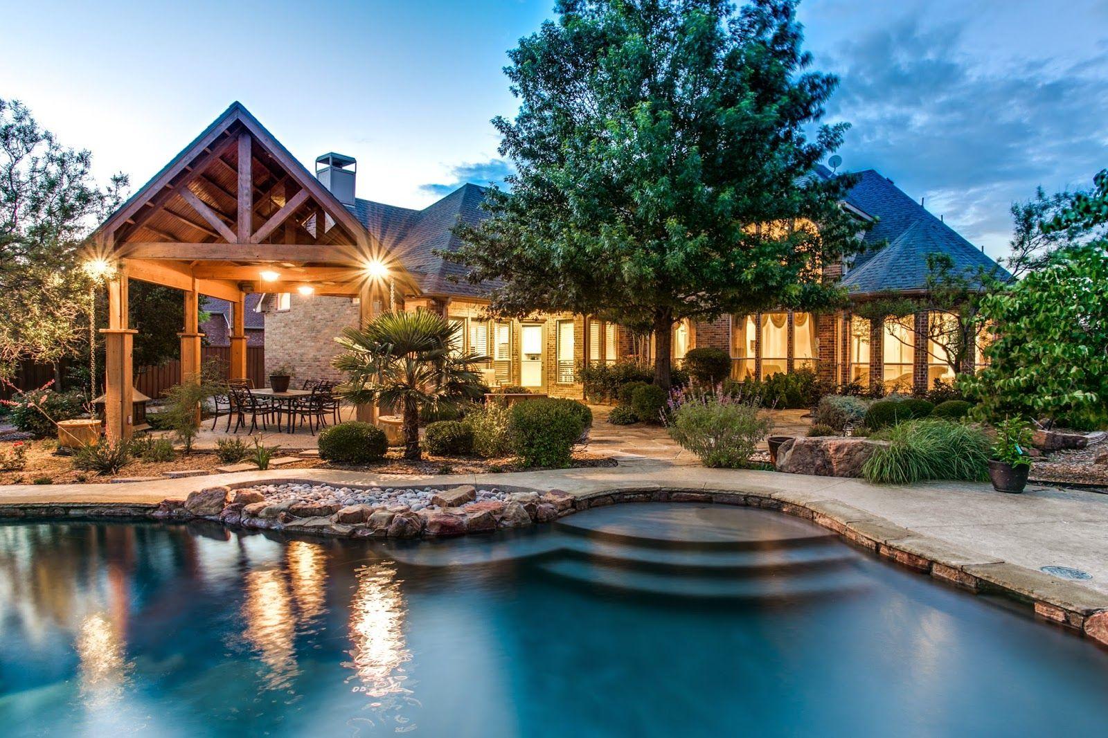 Backyard Paradise: Stunning Custom Home With A Pool And Backyard Paradise