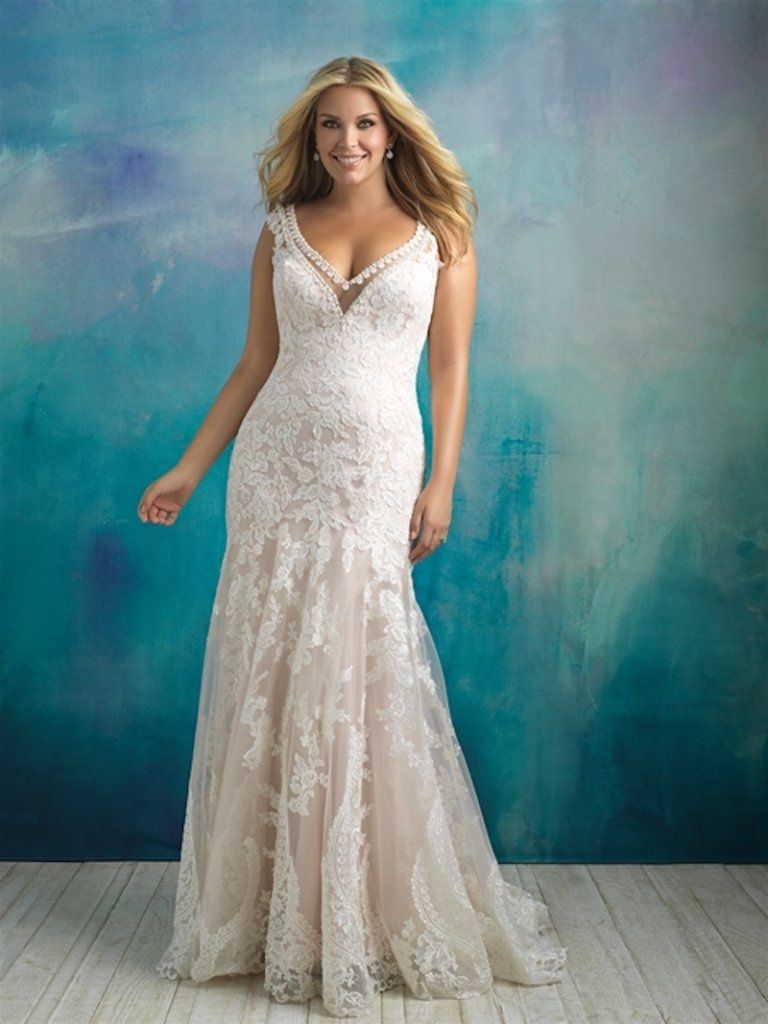 Lace wedding dress for plus size january 2019  Sexy Wedding Gowns for Curvy Brides  Wedding Ideas  Pinterest