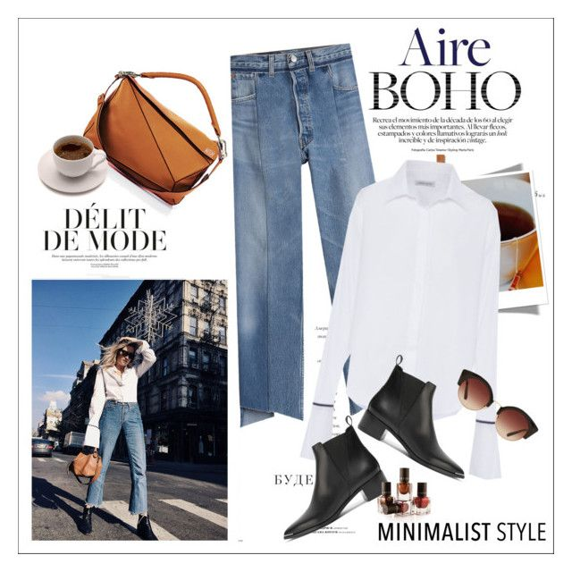"""""""Minimalist style"""" by amaryllis ❤ liked on Polyvore featuring Vetements, Acne Studios, Loewe, MANGO and Le Métier de Beauté"""