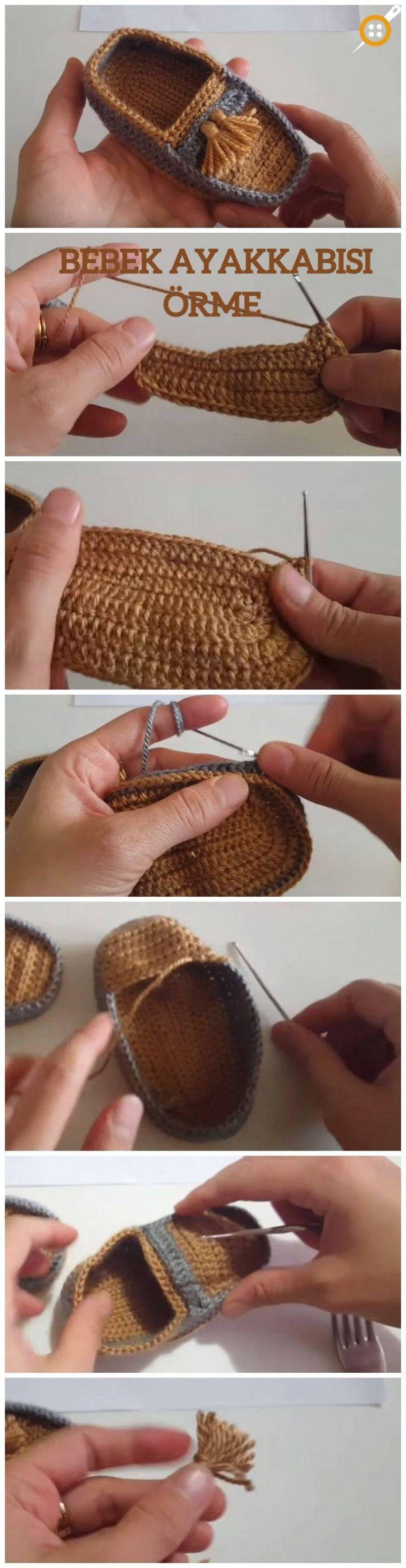 Örgü Bebek Ayakkabı Yapımı – Tığ İşi Bebek Ayakkabı Patik Yapılışı