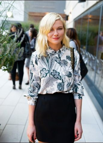 9b4a3bf1d27 A fun print top is an easy way to add interest to an outfit! A.Z.  Kirsten  Dunst Street Style