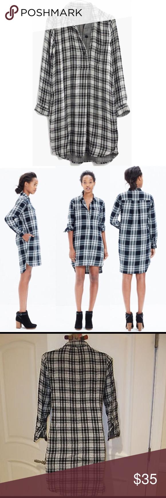 Madewell Daywalk Long Sleeve Flannel Dress Madewell Flannel Long Sleeve Dress Black And White Shirt Flannel Dress Long Sleeve Flannel Black Long Sleeve Dress [ 1740 x 580 Pixel ]