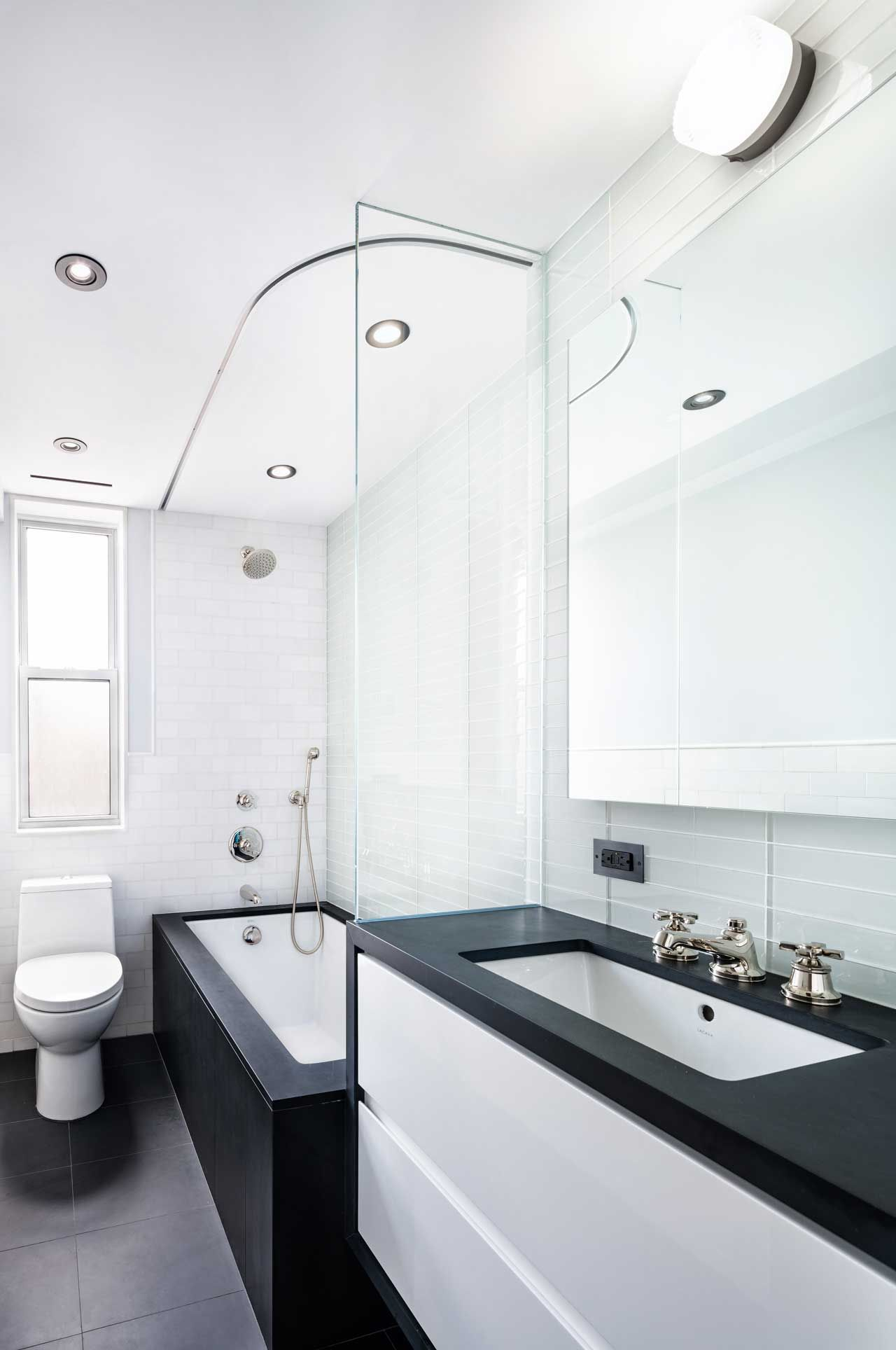 A Classic 7 Pre War Apartment In Nyc Is Renovated By Studiolab Small Full Bathroom Small Bathroom Makeover Kitchen Bathroom Remodel