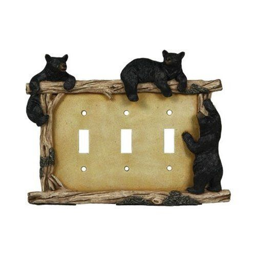 Rivers Edge Products Bear Triple Switch Electrical Cover Plate ...