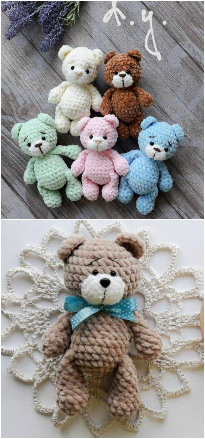Tiny Teddy Crochet Pattern Watch The Video Tutorial