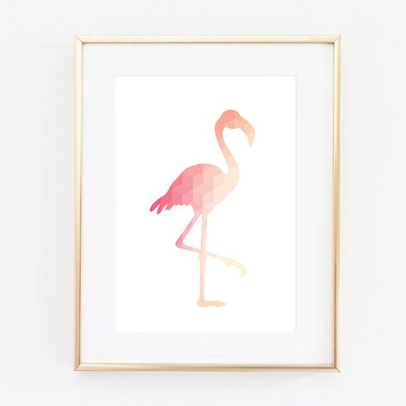 Flamingo Art by Black & Boo Design. This artwork is a simple and affordable way to decorate your home. The print is the ideal accent piece - it will grab attention, but it won't overwhelm and it will work with just about anything! Coral Art Print Flamingo Print Flamingo Wall Art Flamingo Prints Wall Prints Geometric Print Baby Room Decor Coral Nursery Art