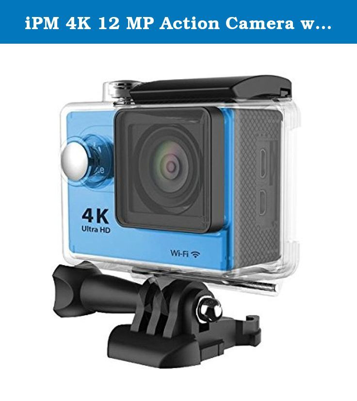 Ipm 4k 12 Mp Action Camera With Wi Fi Blue Features A