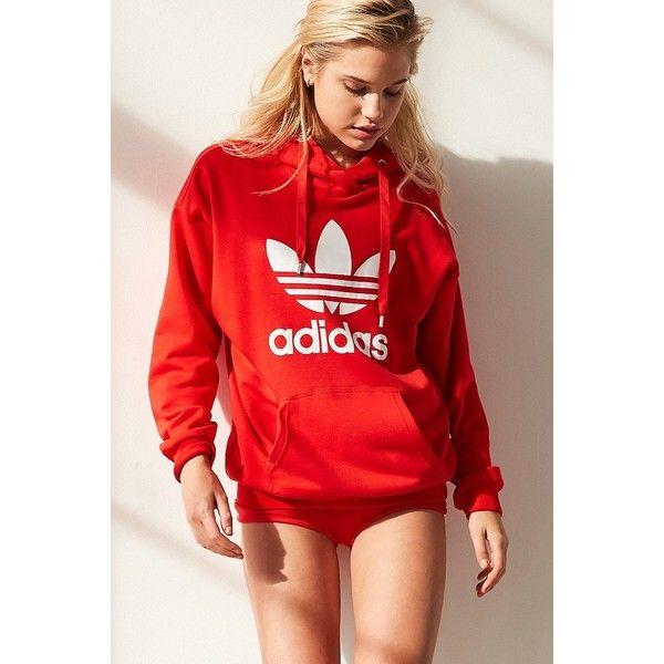 adidas Originals Trefoil Hoodie Sweatshirt ($70) ? liked on