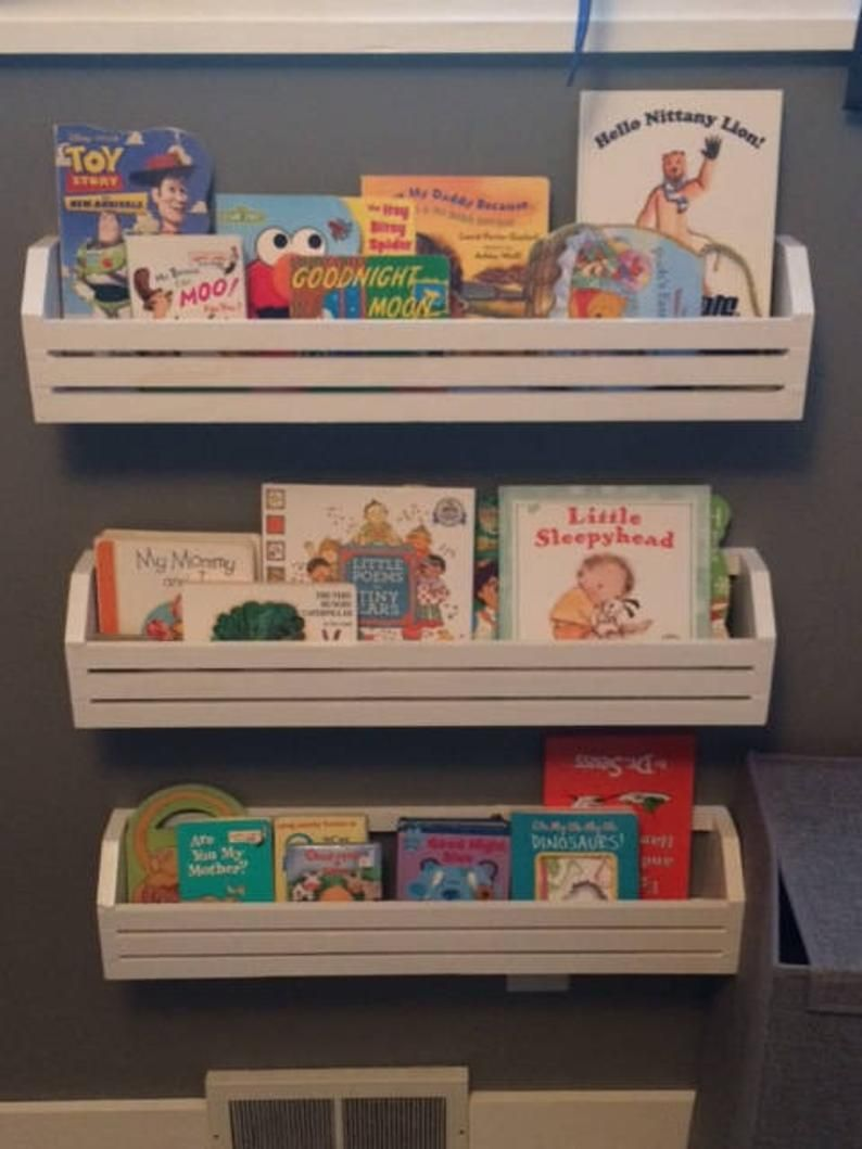 Single Childrens Book Shelf Kids Book Shelves Hanging Book Etsy Bookshelves Kids Childrens Book Shelves Small Kids Room