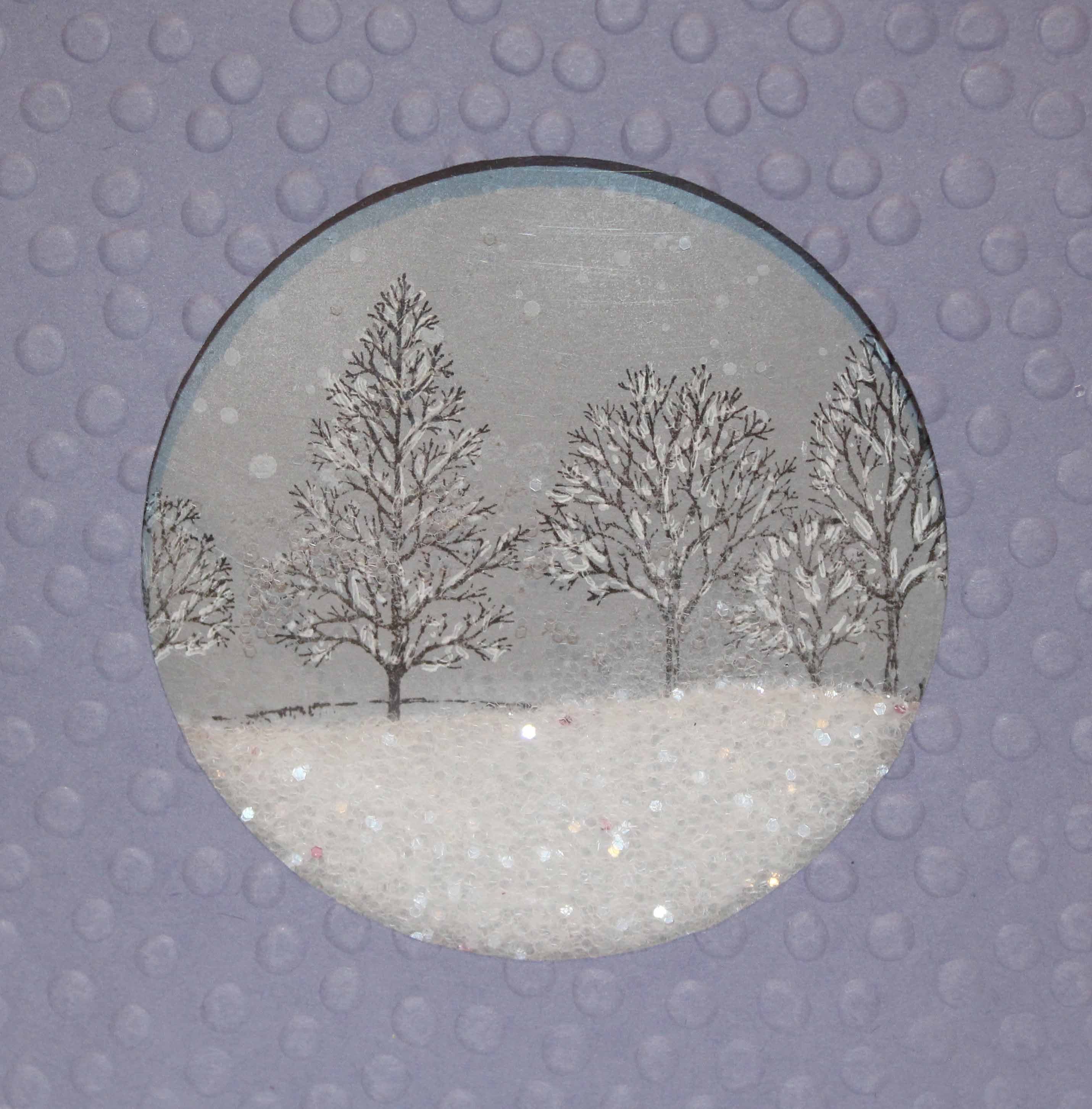 Snowglobe card with glitter Shaker cards tutorial