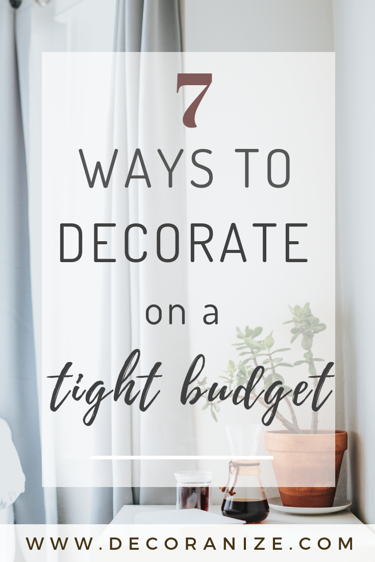 tight decorating budget 7 ways to make an impact in the home rh pinterest com