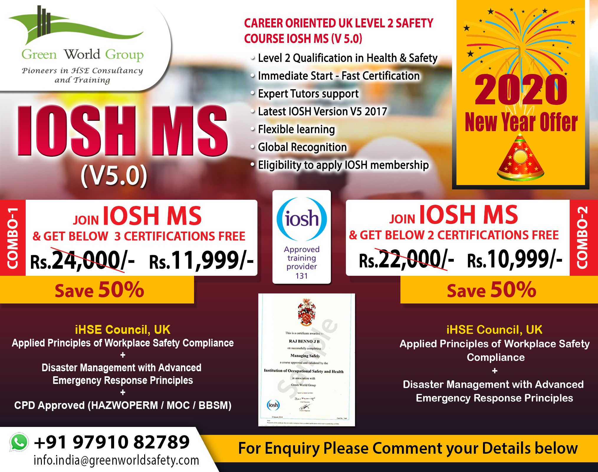 Green World Group Excellent New Year offer for IOSH MS