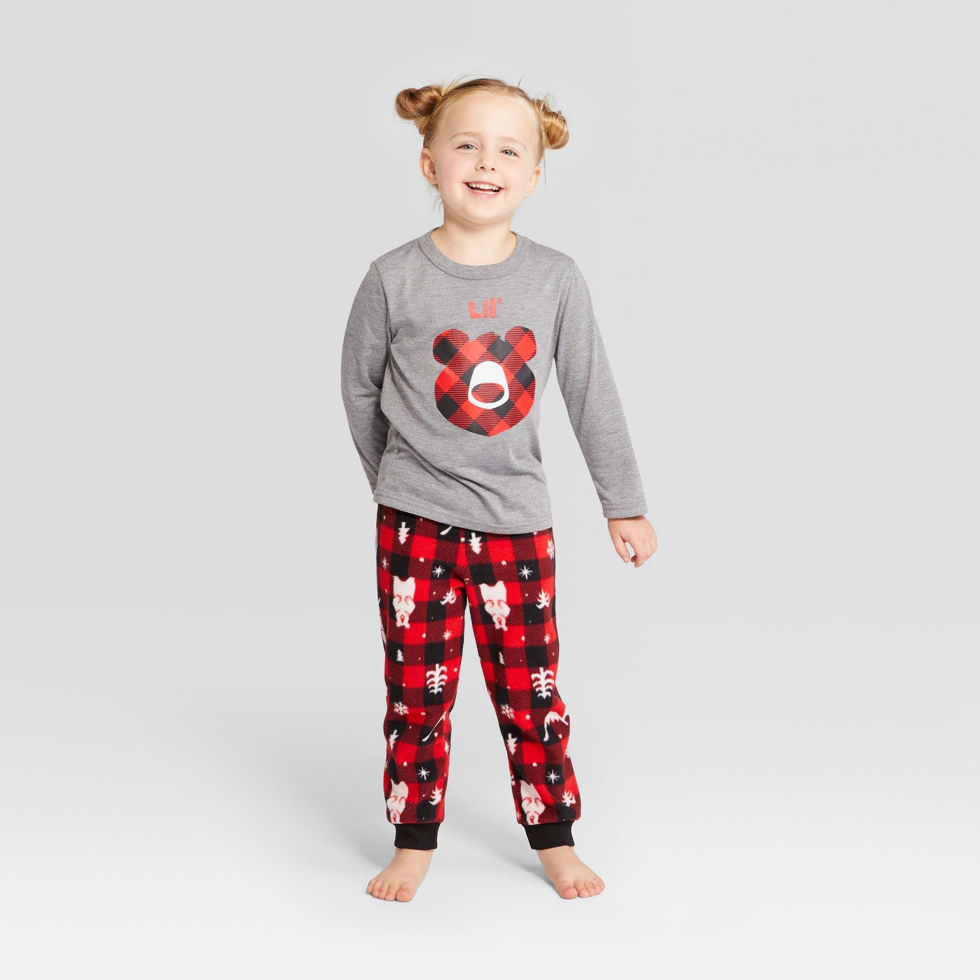 fc951123edc3 Toddler Holiday Bear Pajama Set - Wondershop Red 18M