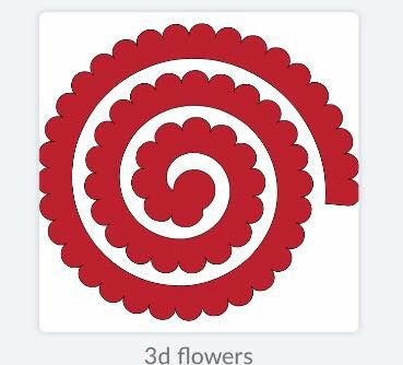Use This Template To Make 3 D Flowers Flower Template Paper