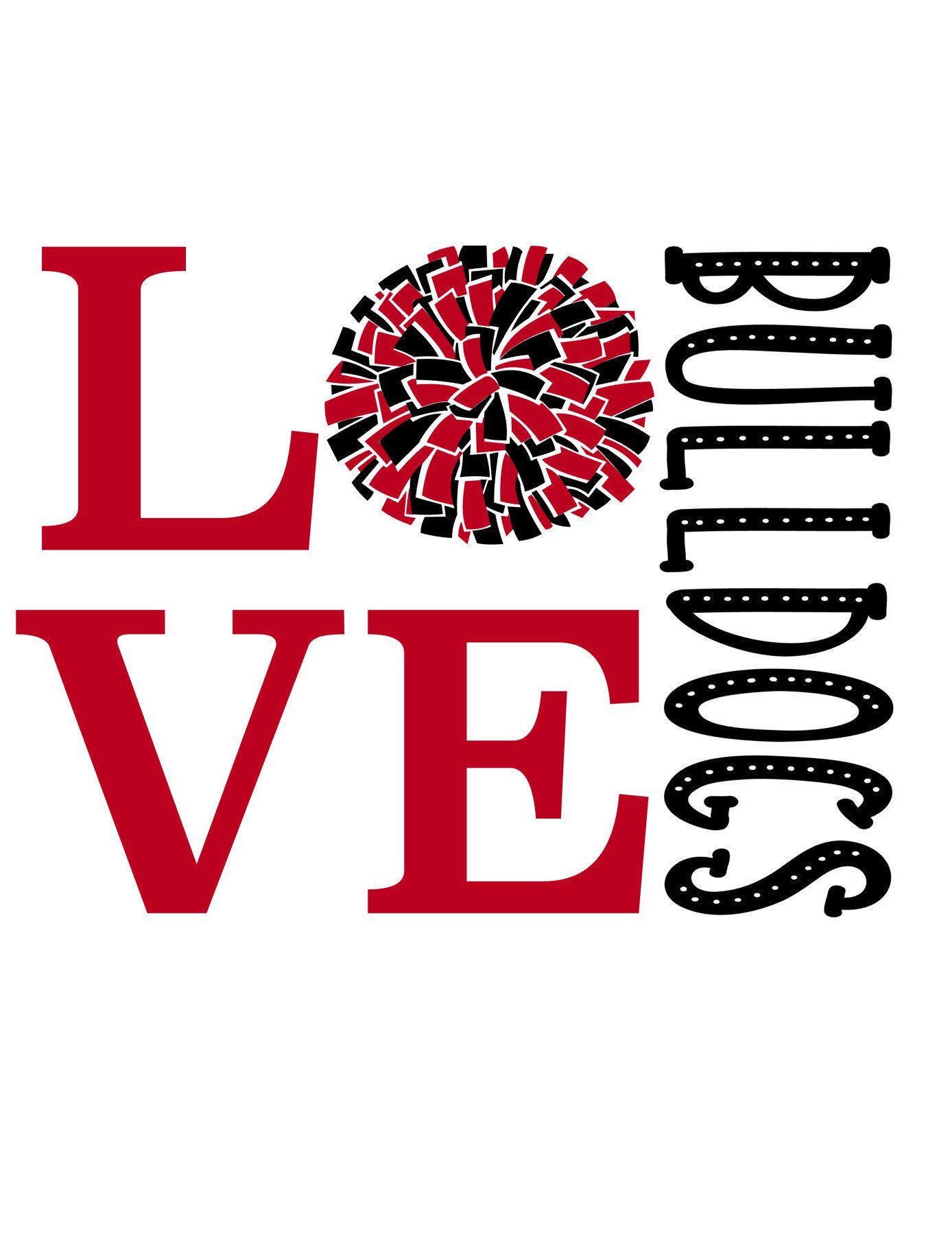 Download Love Bulldogs Cheer SVG | Cheer shirts, School spirit ...